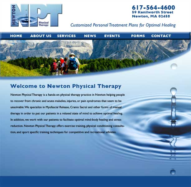 Newton Physical Therapy Website