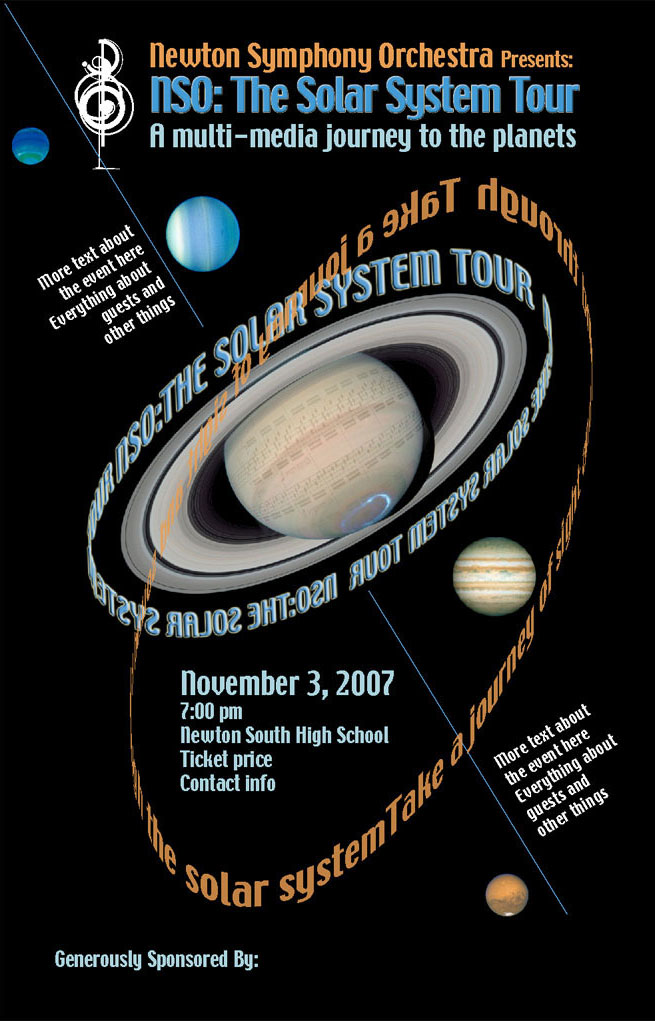 Newton Symphony Orchestra Poster