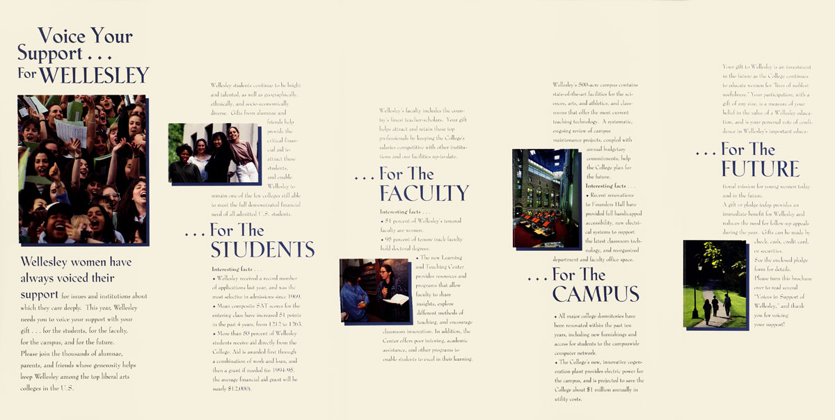 Wellesley College Brochure  Steinberg Miller Design
